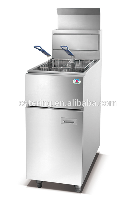 HGF-780 double tank stainless steel potato fryer for kitchen