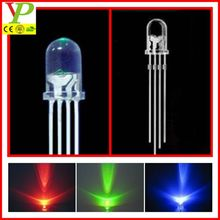 common anode/cathode high quality 4 pin rgb 5mm led