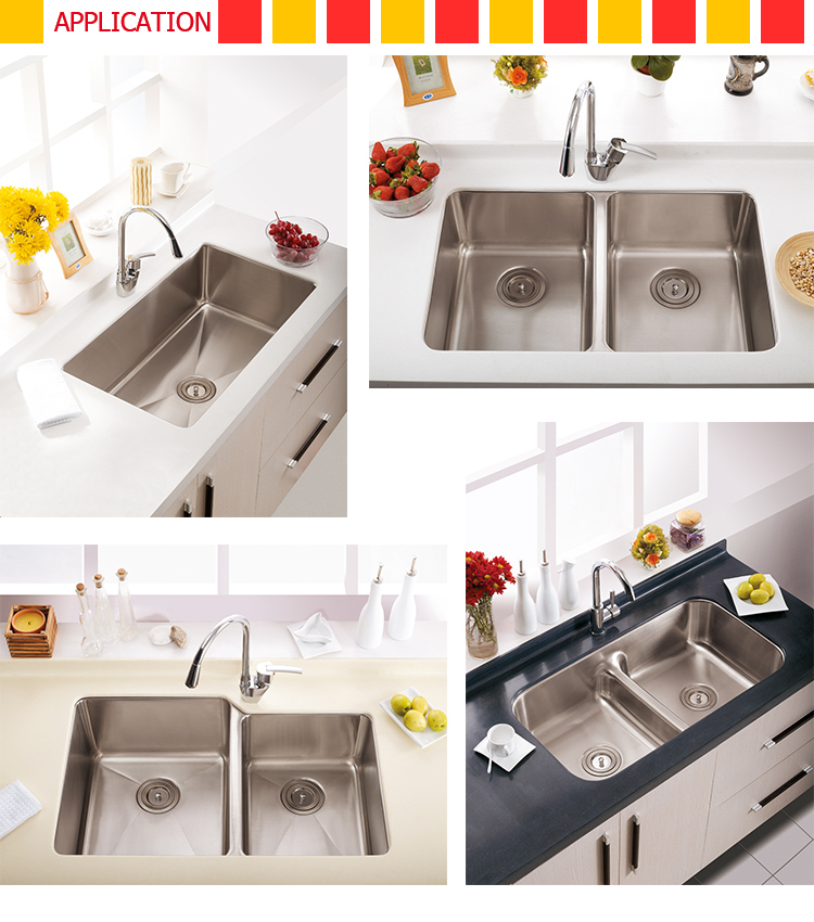 Unique design stainless steel corner sink, kitchen undermount sinks