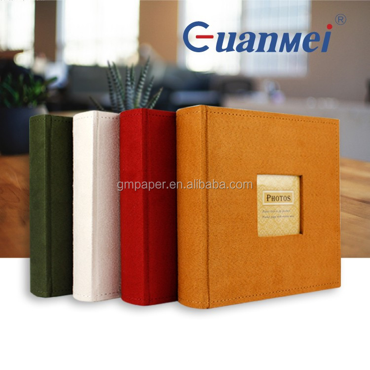 GuanMei Four Color Photo Album With Memo And 4X6 Fabric Cover