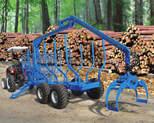 Cheap price of atv wood log trailers with crane loading capacity upto 3TON