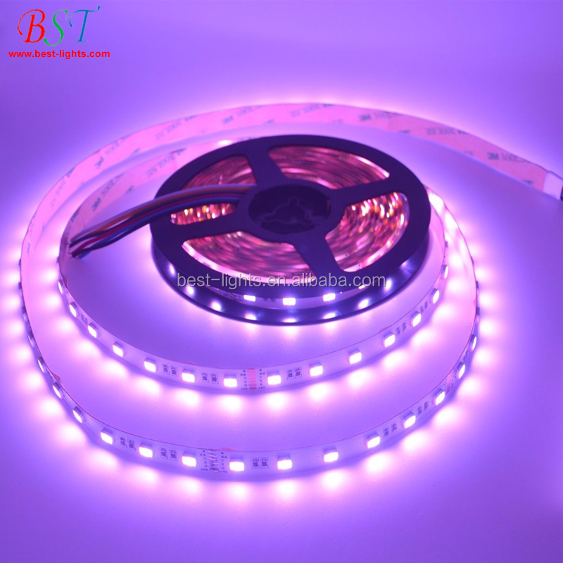 5050 <strong>RGB</strong> CCT LED strip wifi lights, <strong>RGB</strong> + cool white + warm white flexible LED strip lights controled by APP, WIFI Controller