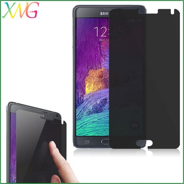 High-end market most popular tempered guard film anti-peep privacy protect spy proof screen protector for Samsung Note 4