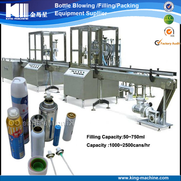 Automatic Spray Can Filling Machine / Filling Line