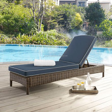Hengxin High Quality Cheap Outdoor Furniture Wicker Beach Poolside Garden Chaise Sun Lounger Chair Daybed