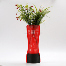 Latest Style Popular Durable foldable gift vase pp foldable vases
