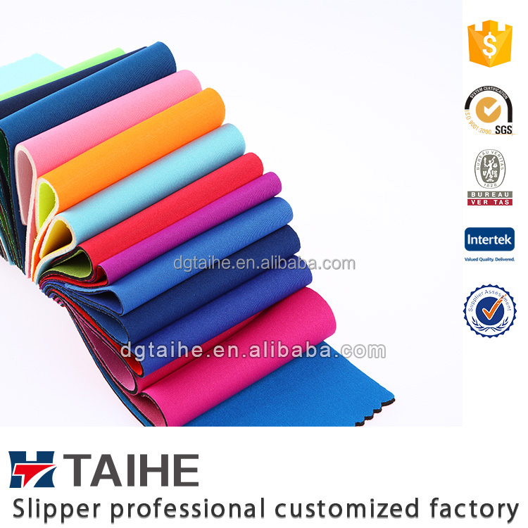 Factory thin neoprene rubber sheet 3mm with fabric