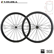 Velosa 700C 38mm Tubular Road Rims Bike/Bicycle Carbon Wheelset Toray T700 Carbon Fiber wheels