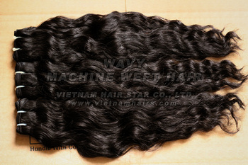Machine Weft Hair (Wavy/Curly, Premium Quality)