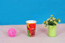 double wall paper cup for hot/cold drinking from Anhui SenTai company