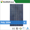 Cheap shipping high efficiency poly 250w support panel solar