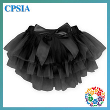 Charm Black Ruffled Layer Skirt Panty Bloomers For Baby Girl
