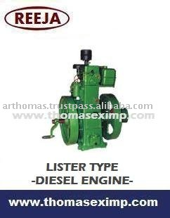 lister type water cooled slow speed diesel engines