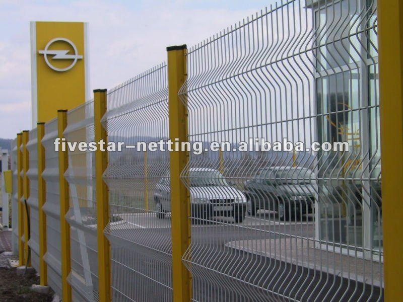 PVC coated railway wire mesh security fence (factory)