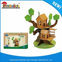 Kids Personalized 3D Toy Paper Cardboard Diy Model Tree House