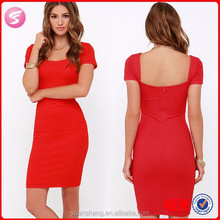 2015 Red Tube Sex Women Party Dress Sexy Ladies Bodycon Dress