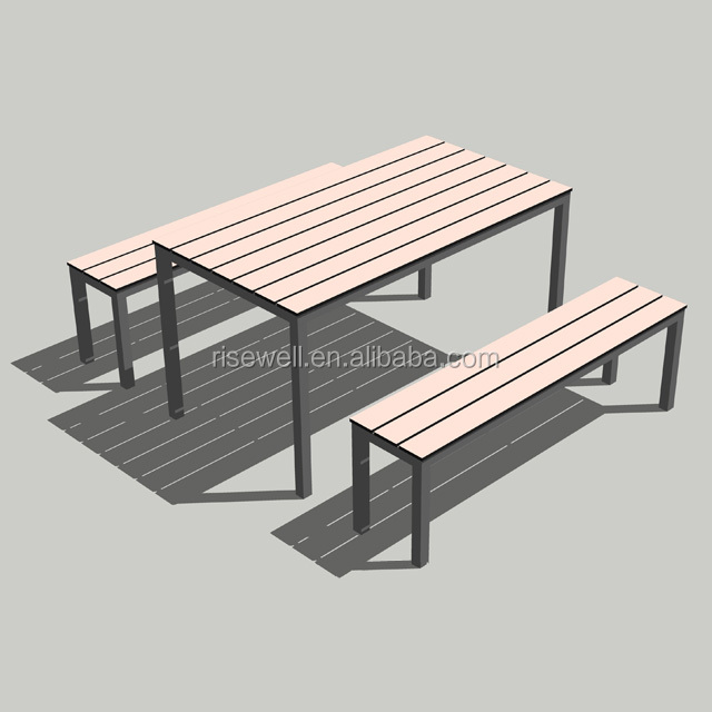Debo China outdoor solid phenolic resin bench with tables