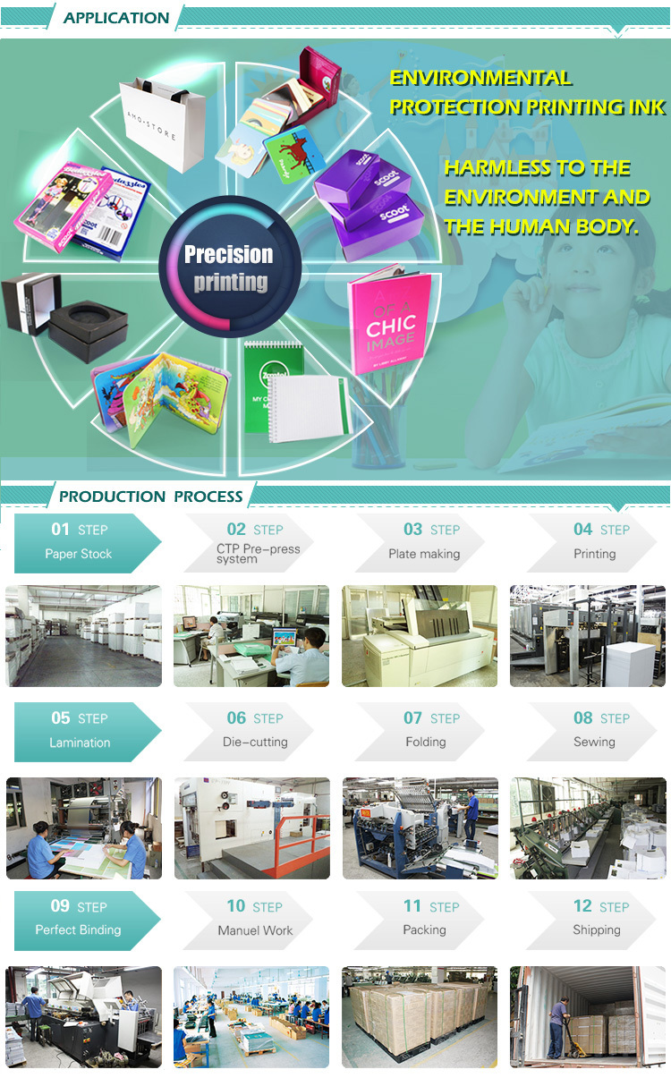 student use wholesales popular gift lunch box production line exercise book