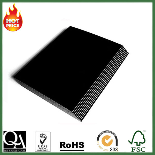 Thickness and stiffnees 2.5mm/3mm black color chipboard paper manufacture