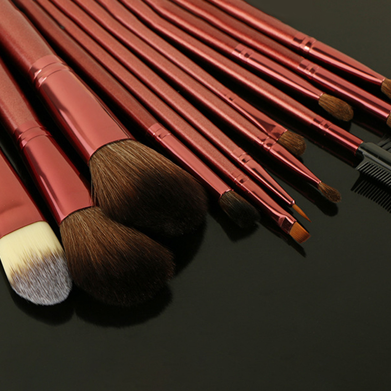 2018 hot 12pcs high cost effective private label cosmetics makeup brushes high quality make up brushes