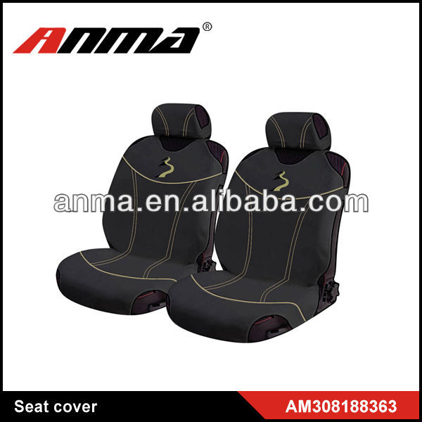 black elegant disposable leather car seat cover