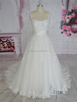 A-line women dress backless lace wedding dress bridal gown alibaba 2016