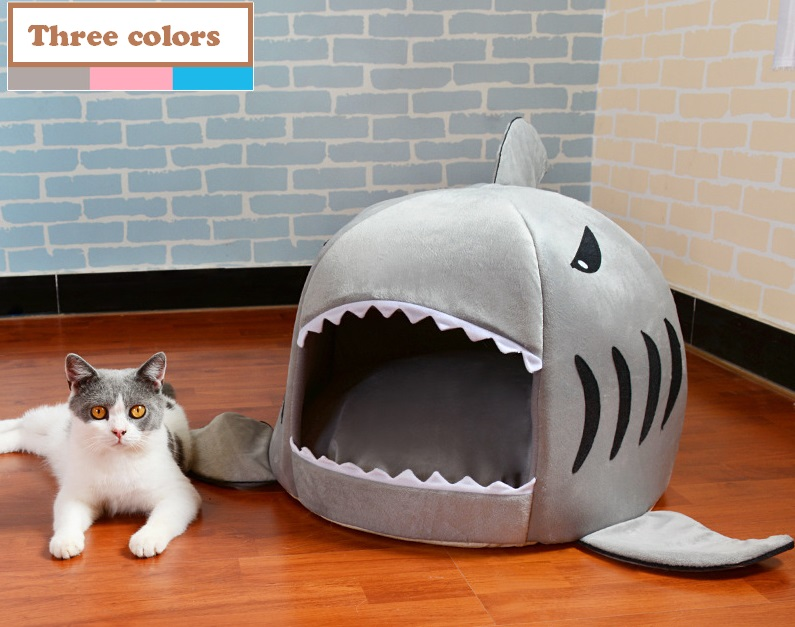 high quality shark pet bed cat dog bed Dog Pet House