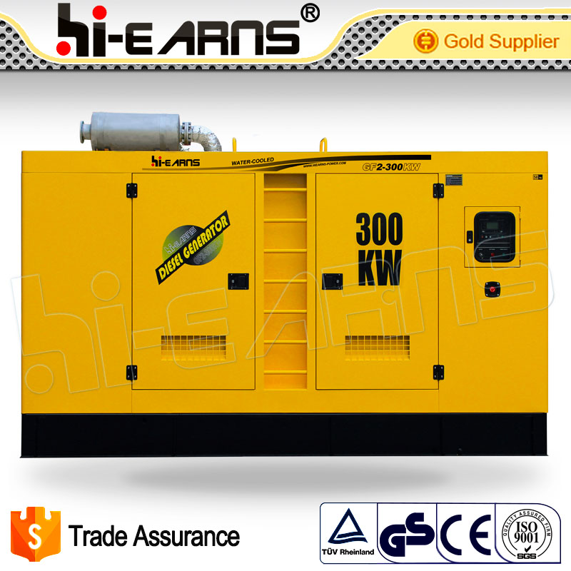High quality 300KW power plant silent water cooled diesel generator