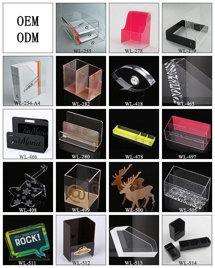 OEM New Product Clear Multi Layers Acrylic File Holder Folder