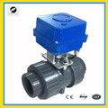 "UPVC/cast iron CTF-005 DC24V 2"" PVC electric motor valve for industrial equipment,solar water system"