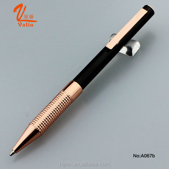 New Design Elegent Appearance Rose Gold color Metal ball pen