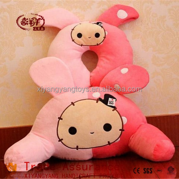 lovely cute neck cushion plush toys stuffed rabbit pillow
