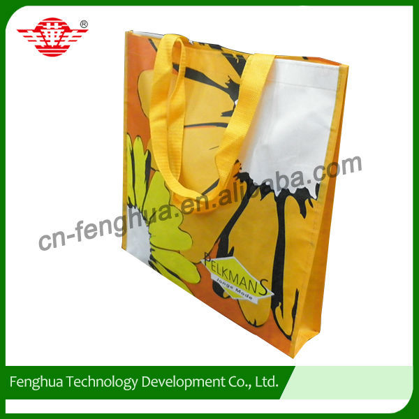 Custom tops pp spunbond non woven fabric bags with handles
