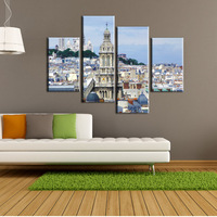 Wall Decor City Scenery Modern Oil Painting on Canvas