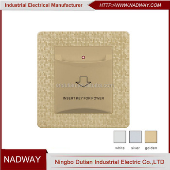UK standard Saudi Arabia Saudi 32A 250V hotel energy saving switch