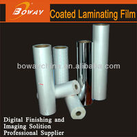 Coated Laminating glossy and matt bopp pet clear plastic protective film