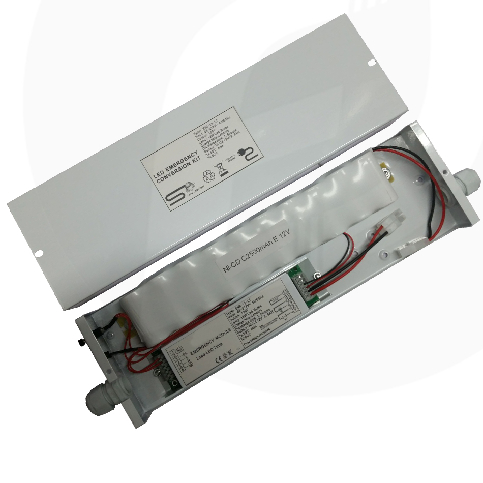 Low voltage emergency power for square surface mounted led panel light