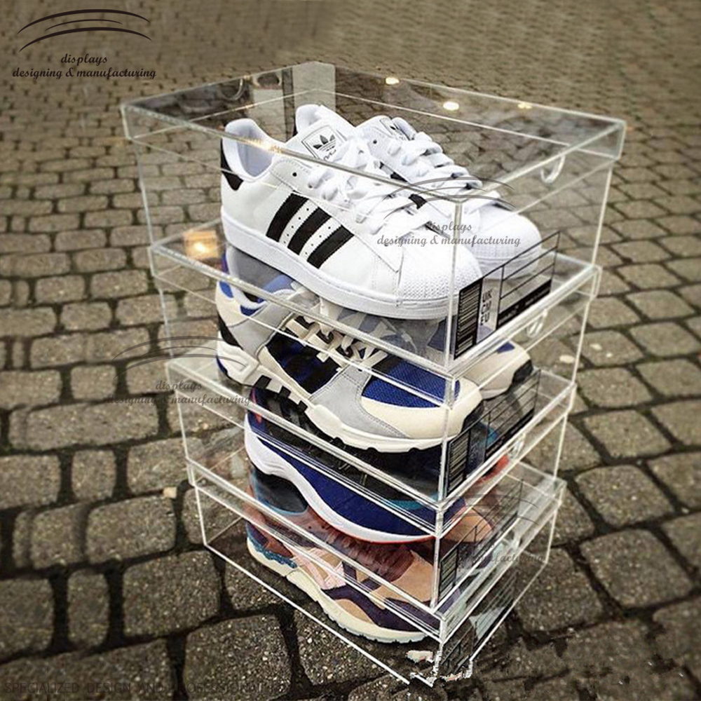 Weitu customized cheap wholesale clear acrylic high-end shoe display case