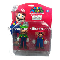 2pcs Set Nintendo Super Mario & Luigi Collectible Figure Toy in Twin Pack