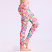 New Designs Seamless Shiny Star Multi Color Sublimation Legging for Ladies