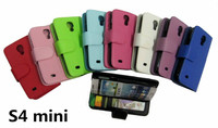 For Samsung Galaxy S4 mini Leather Case Wallet Stand Flip Cover With Photo Frame Card Slots