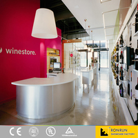 Wine Store Decoration Design Used Stainless Steel Wine Display Cabinet And Wall Showcase