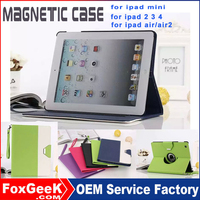 Manufacturer Wholesale Ultra Slim Thim Magnetic leather protective case for Ipad Case, PU leather case with stand for ipad