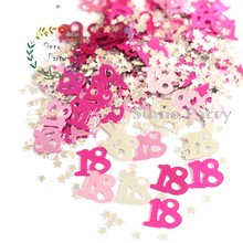 SINNO 18th Birthday Table Confetti Party Decoration, 1/2 oz, Multicolor