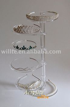High quality Tier Tiara Jewellery Wedding Acrylic Display