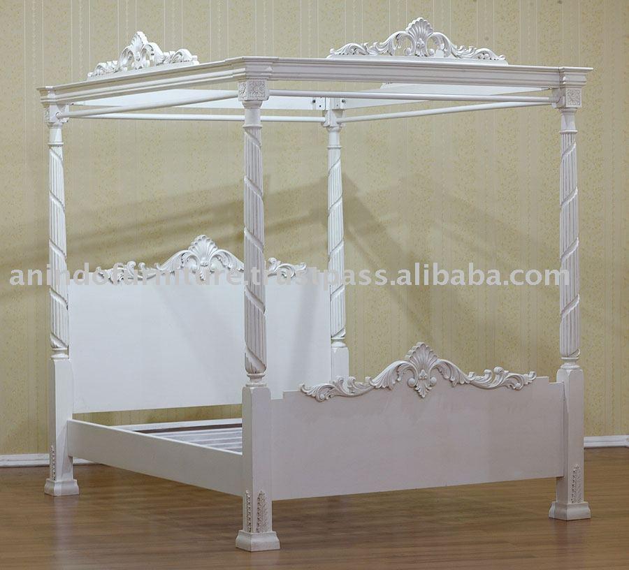 wei lackiert m bel franz sisch poster bett bett produkt id 106355641. Black Bedroom Furniture Sets. Home Design Ideas