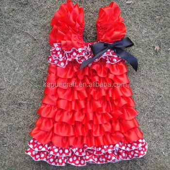 2015 wholesale Eye-catching lace petti dress for little kids of diverse colors made in china
