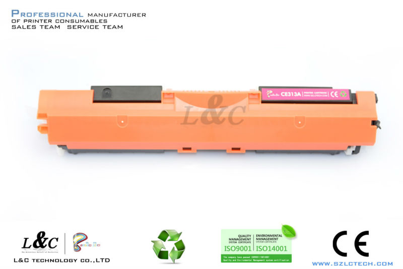 for hp CE310A white color laser toner,office supply toner cartridge in shenzhen