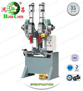 Clutch plate / brake pads / Brake shoe riveting machine for double head rivet