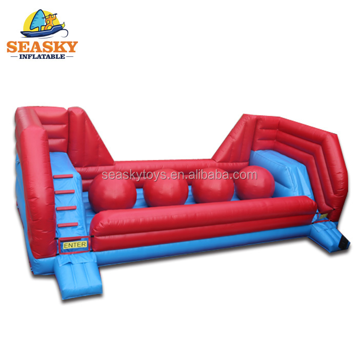 SK customized inflatable ball wipeout obstacle course sport game
